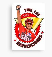 Viva Las Revoluciones - Chris Froome La Vuelta Canvas Print