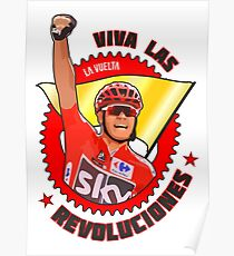 Viva Las Revoluciones - Chris Froome La Vuelta Poster