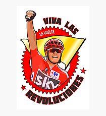 Viva Las Revoluciones - Chris Froome La Vuelta Photographic Print