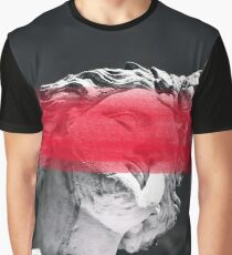 Face Me With Red Graphic T-Shirt