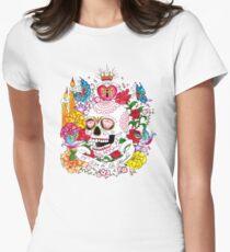 El Dia de Los Muertos Womens Fitted T-Shirt