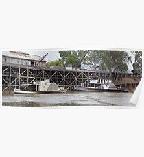 Historic inland port of Echuca, Australia Poster