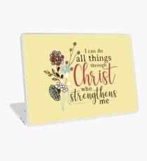 Ich kann alle Dinge durch Christus tun, der mich stärkt Laptop Folie