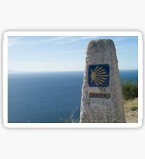 Mojon and boots in Finisterre  Sticker
