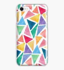 Triangle geometric watercolour design iPhone Case/Skin