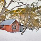 Winter at JB Plain Hut, Mt Hotham, Victoria, Australia by Michael Boniwell