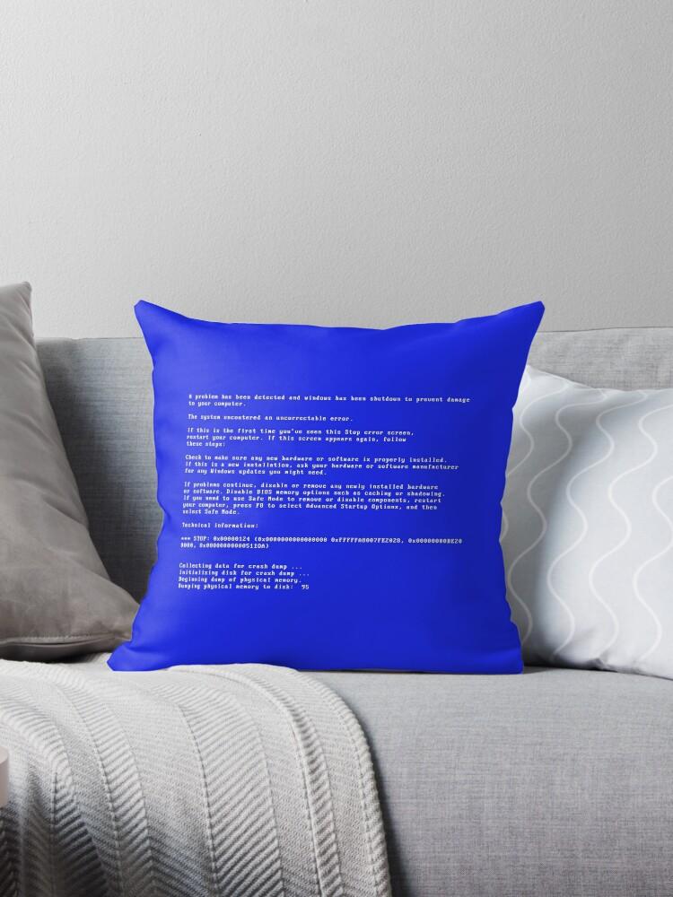 « Ecran bleu de la mort / Blue screen of death » par b-unik