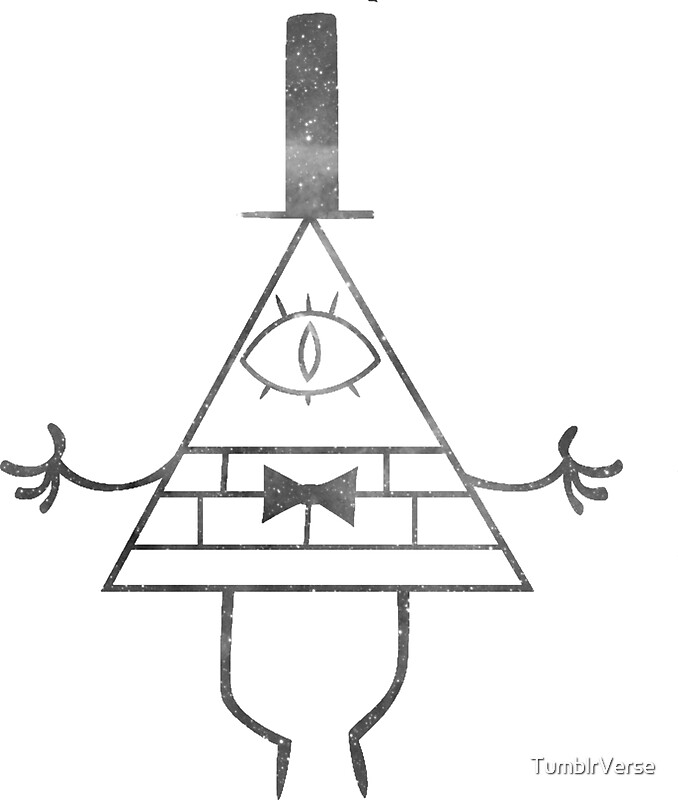 """Bill Cipher Solo Ghost Print"" Stickers by TumblrVerse"