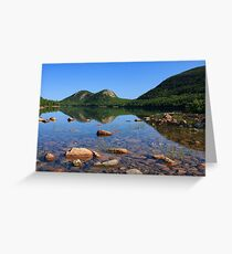 Bubbles over Jordan Pond, Acadia National Park, Maine Greeting Card