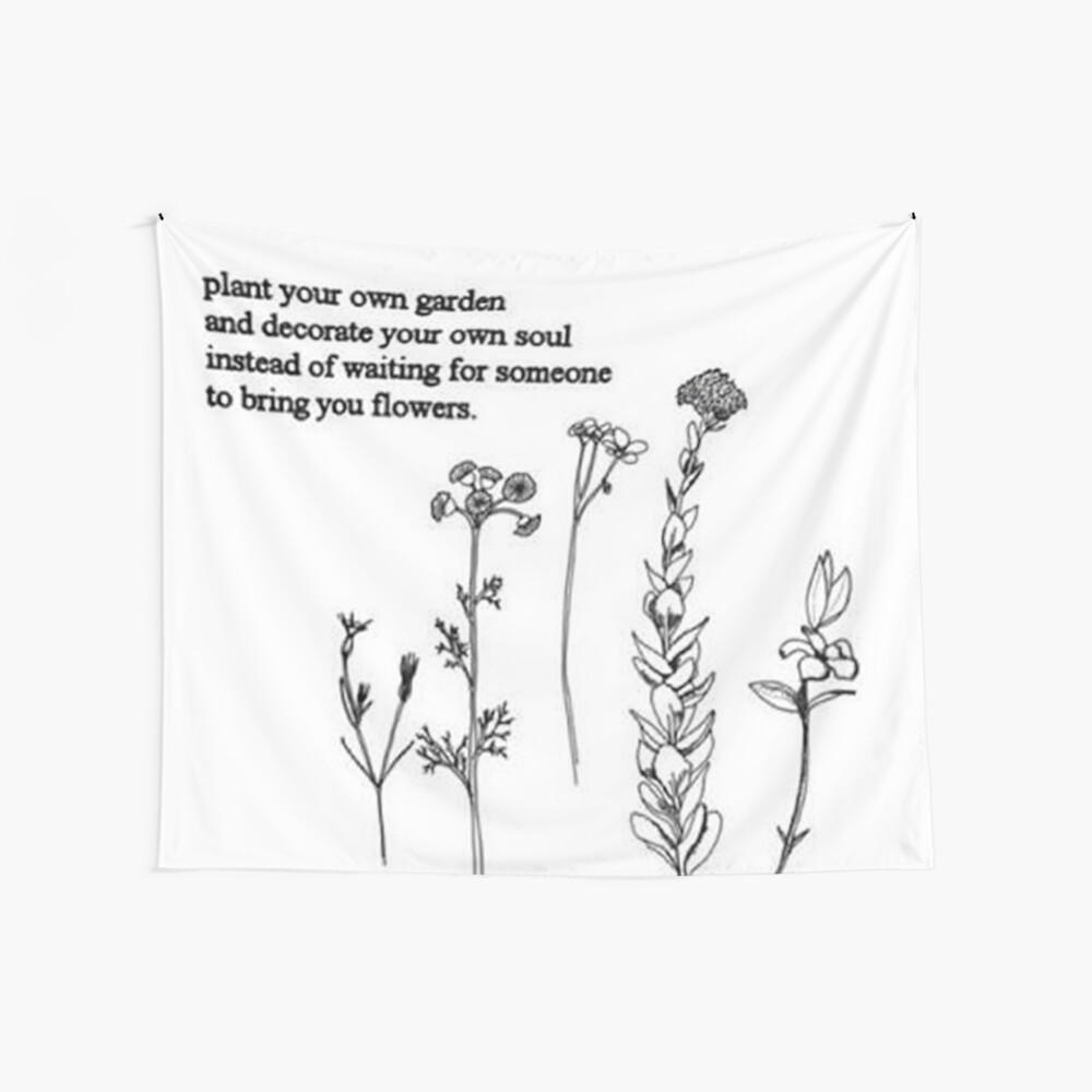 Blumengedicht Wandbehang
