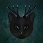 Antlered Cat by Sybille Sterk