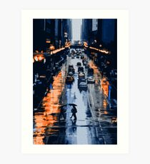 On the streets of New York City Art Print