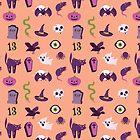 Halloween Orange Pattern by Elizabeth Levesque