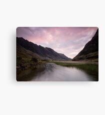 Sunrise at Loch Achtriochtan Canvas Print