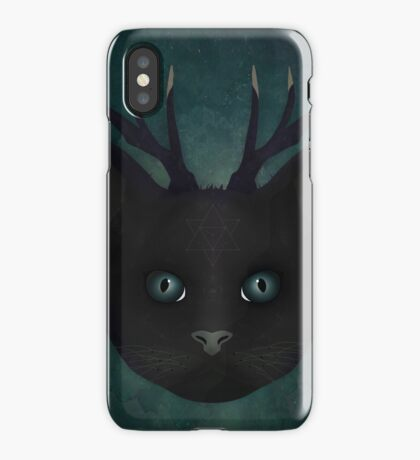 Antlered Cat iPhone Case