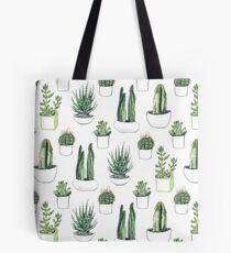 Watercolour cacti & succulents Tote Bag