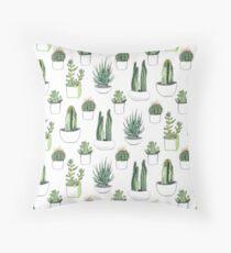 Watercolour cacti & succulents Floor Pillow