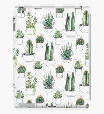 Vinilo o funda para iPad Cactus y suculentas de acuarela.