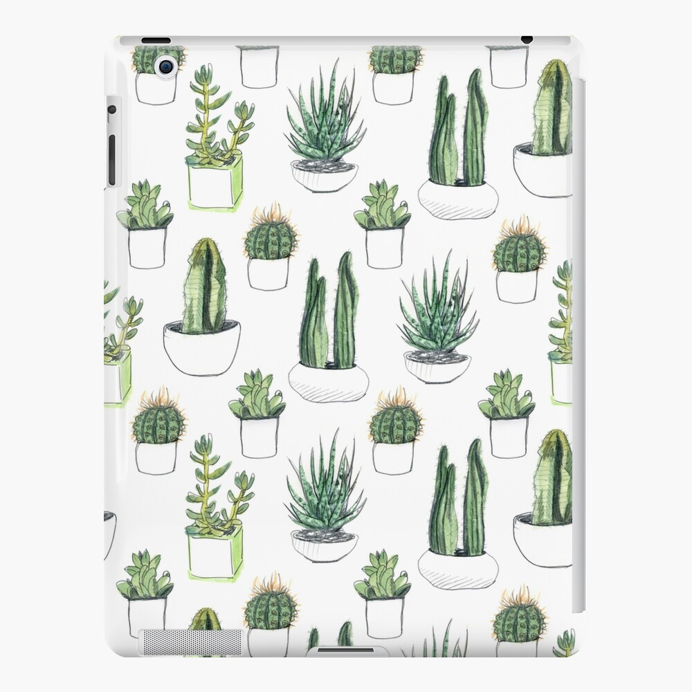 Watercolour cacti & succulents iPad Case & Skin