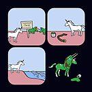 «Unicornio y narvales como triceratops (amigos guerreros con cuernos)» de jezkemp