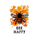 Bee Happy by Mariewsart