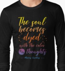 Marcus Aurelius Stoicism Quote - Color of thoughts Long Sleeve T-Shirt