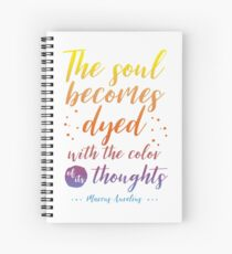 Marcus Aurelius Stoicism Quote - Color of thoughts Spiral Notebook
