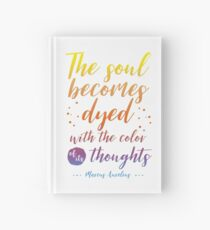 Marcus Aurelius Stoicism Quote - Color of thoughts Hardcover Journal