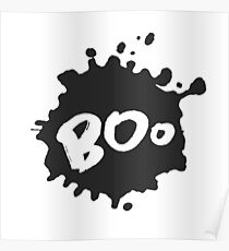 Boo on Blot Poster