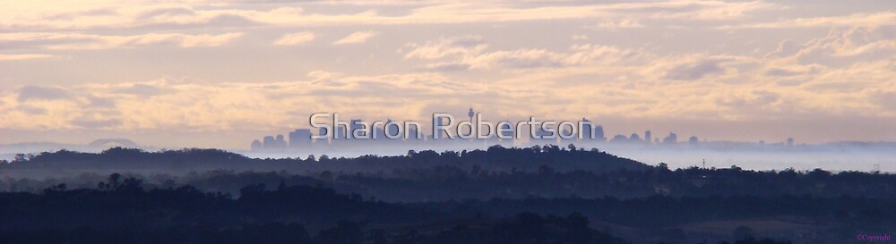Sydney City from 100km's away... by Sharon Robertson