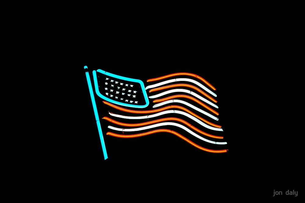 neon flag by jon  daly