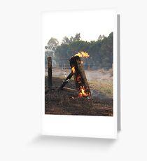 Bushfire Fire post Greeting Card