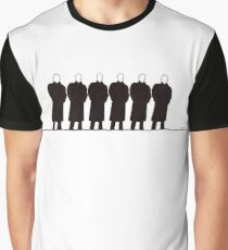 A row of men  Graphic T-Shirt