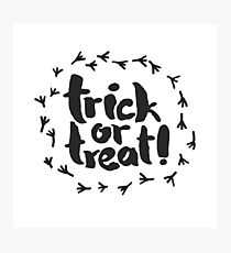 Trick or Treat with Raven Traces Photographic Print