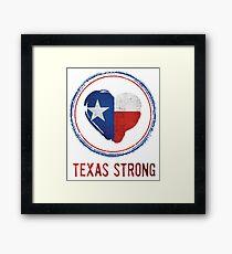 Texas Strong Texas Flag in Heart Framed Print