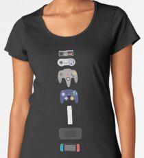 Nintendo Controllers Evolution 2017 Women's Premium T-Shirt