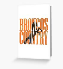 Broncos Country Miles Orange Greeting Card