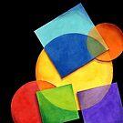 Rainbow Candy Geometric by PatriciaSheaArt