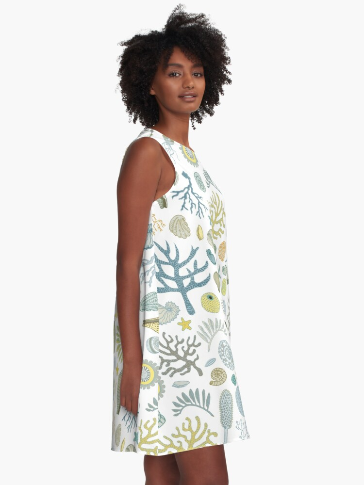 Alternate view of Natural Forms - nautical pattern by Cecca Designs A-Line Dress