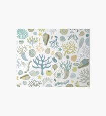 Natural Forms - nautical pattern by Cecca Designs Art Board