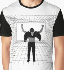 A winged man in a room Graphic T-Shirt