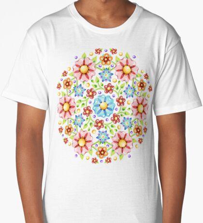 Millefiori Floral Long T-Shirt