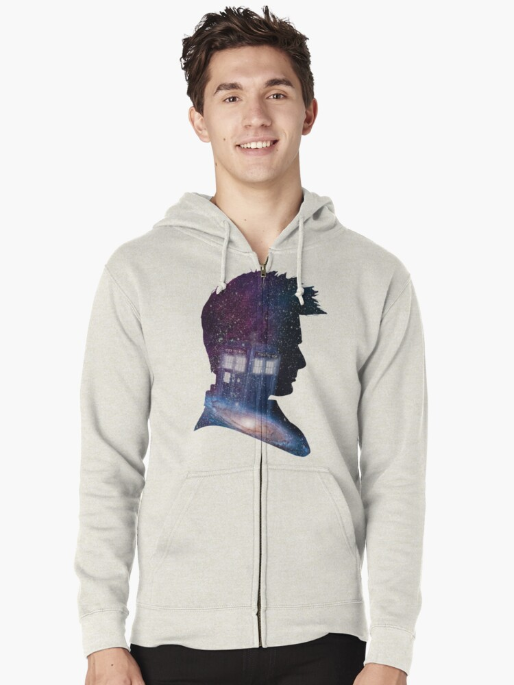 Tenth Doctor Zipped Hoodie Front