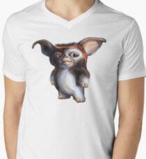 Camiseta para hombre de cuello en v Rambo Gizmo