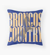 Broncos Country Miles Throw Pillow