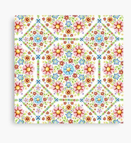Millefiori Floral Pattern Canvas Print