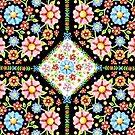 Millefiori Floral Tile by PatriciaSheaArt