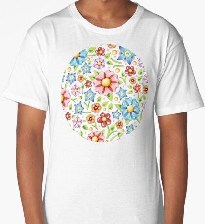 Ditsy Millefiori Pattern Long T-Shirt