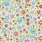 Ditsy Millefiori Pattern by PatriciaSheaArt