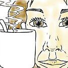 Girl holding a mug by devscape